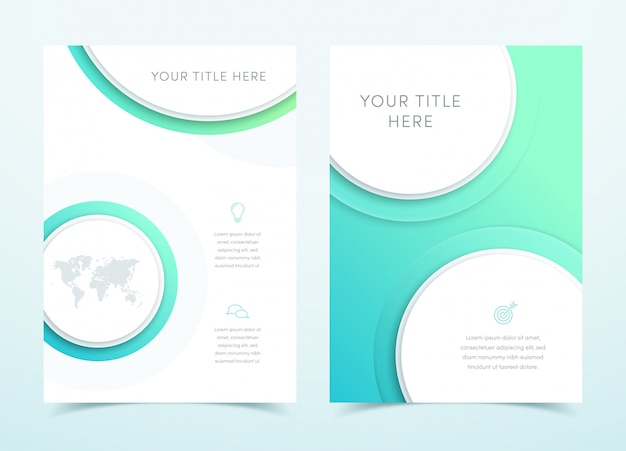 Vector business blue 3d page template design