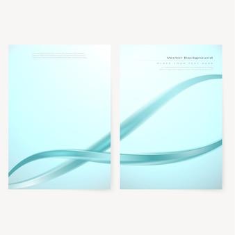 ベクタービジネスパンフレット、チラシテンプレート