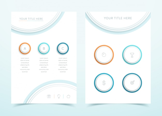 Vector business colorful 3d page template infographic
