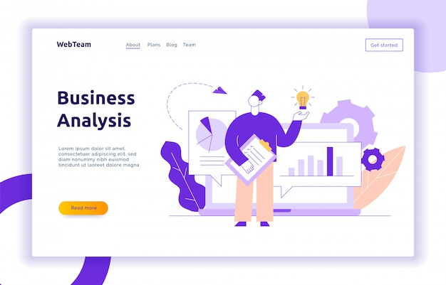 Vector business and finance design concept