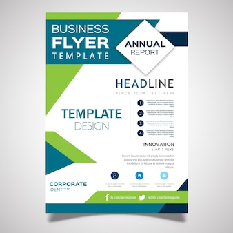 Vector business flyer designs