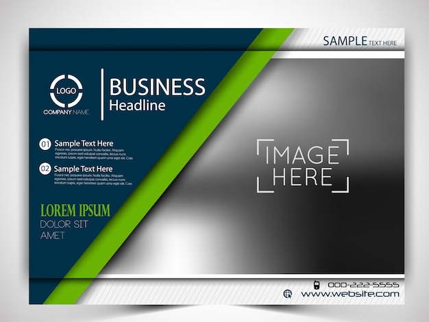 Vector business flyer template