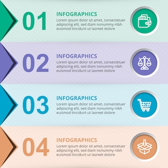Vector business infographic template elements with colorful circles