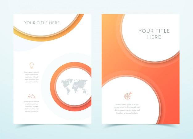 Vector business orange 3d page template design