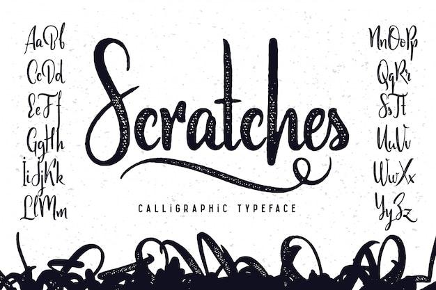 Набор векторных каллиграфических шрифтов