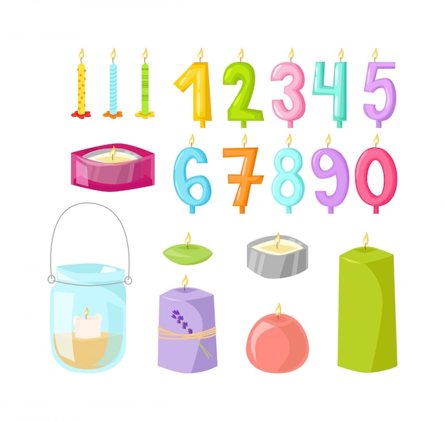 Vector candles isolated