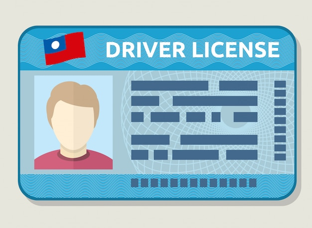 Vector car driving licence