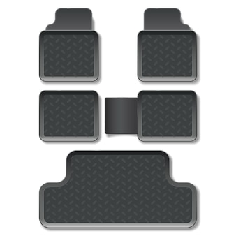 Vector car mats isolated on white background