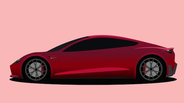 벡터 자동차 빨간색 배경