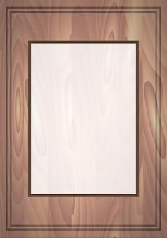 Векторная карта с деревянными досками и место для вашего текста. приглашение.