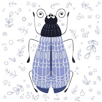 Vector cartoon bug or beetle
