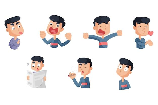Vector cartoon illustration of boy