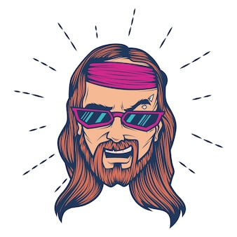 Vector cartoon illustration of jesus.