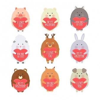 Vector cartoon style illustration of valentine's day