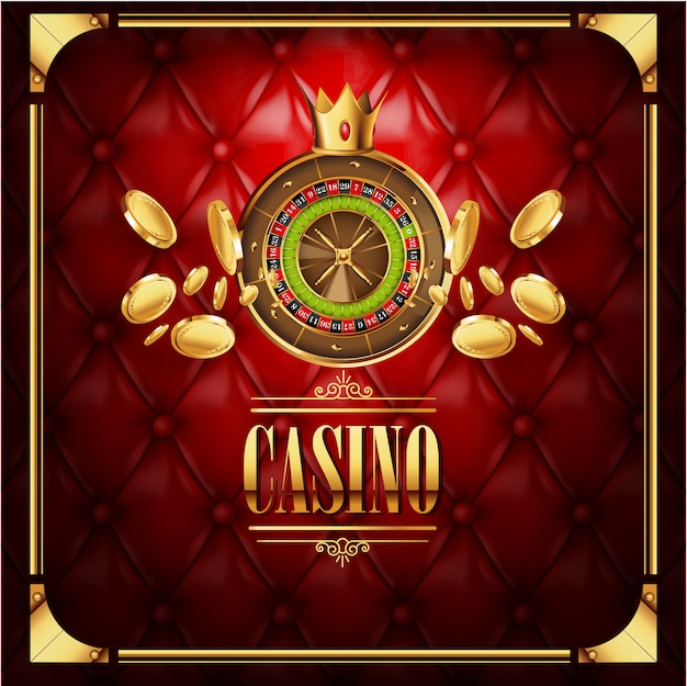 Vector casino gambling game luxury background