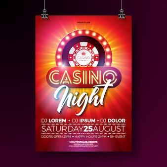 Vector casino night flyer