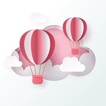 Vector celebratioin of hot air big balloons. eps 10 vector.