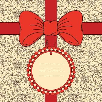 Вектор праздничный баннер с луком и местом для вашего текста