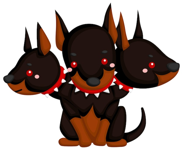 A vector of cerberus the guardian of the underworld
