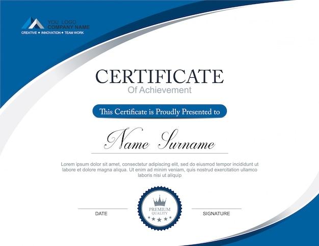 template of award certificate
