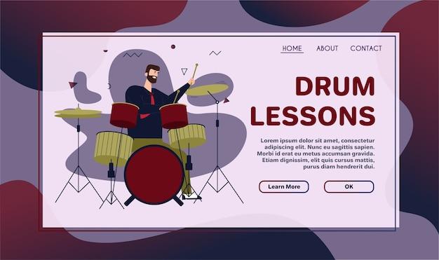재즈 밴드의 벡터 문자 그림은 음악을 수행합니다. 음악가 연주 악기