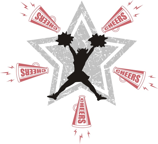 Vector of cheerleaders icon