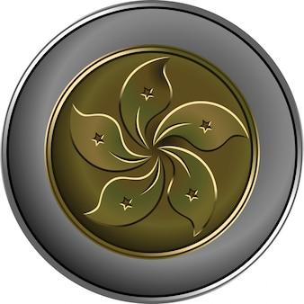 ベクトル中国のお金の金と銀のコイン