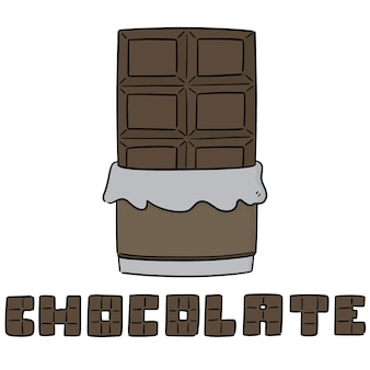 Vector of chocolate