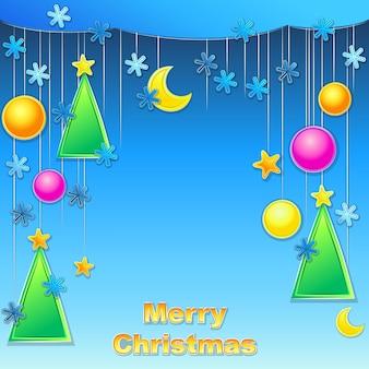 ベクトルのクリスマスの背景