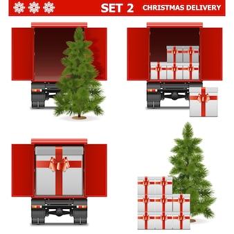 Векторный набор рождественской доставки 2