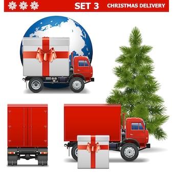 Векторный набор рождественской доставки 3