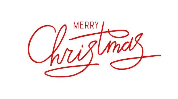 Вектор рождество рисованной надписи xmas текст, изолированные на белом для открытки плакат баннер