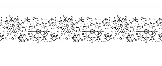 Vector christmas monoline scandinavian seamless pattern ornament new year