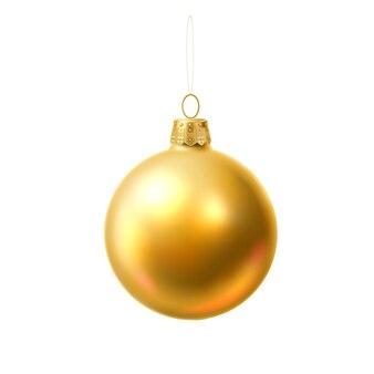 ベクトルクリスマスツリーボールゴールデン現実的なおもちゃ