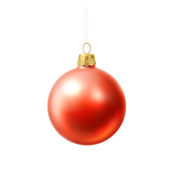 ベクトルのクリスマスツリーボールの現実的なおもちゃ