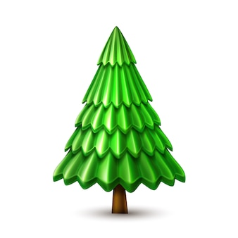 Vector christmas tree, xmas new year design