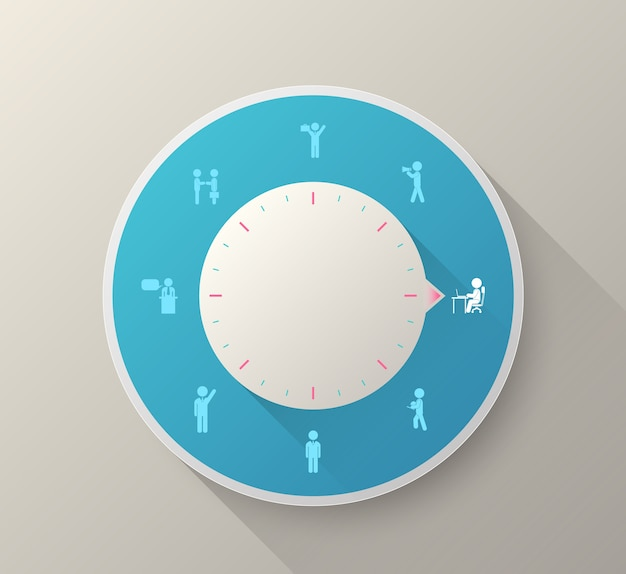Vector circle business people icons