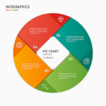 Vector circle chart infographic template.  options, steps, part