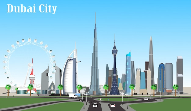 Vector city dubai