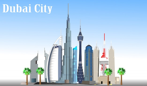Vector city dubai