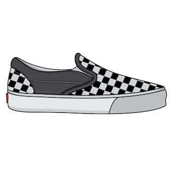 Vector of classic chess design sneakers