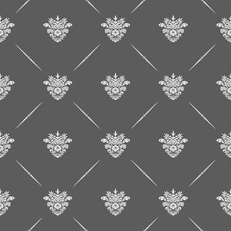 背景と招待状のベクトル古典的な花のシームレスなパターン