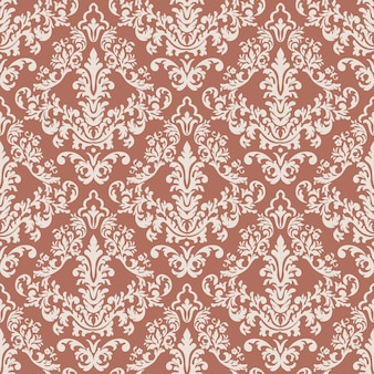 Vector classical luxury old fashioned damask ornament seamless pattern