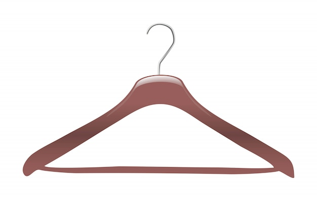 Vector clothes hanger. isolated.