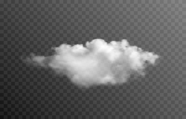벡터 구름 또는 격리 된 투명 배경에 연기 구름 연기 안개 Png 프리미엄 벡터