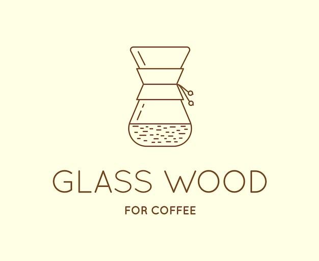 文字記号付きのベクトルコーヒーアクセサリーアイコンはロゴタイプとして使用できます