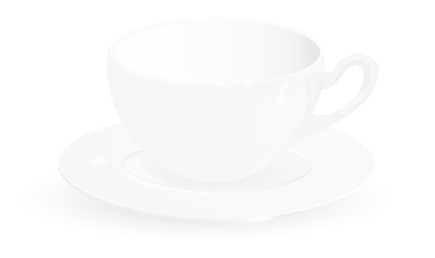 白い背景の上のベクトルコーヒーマグ