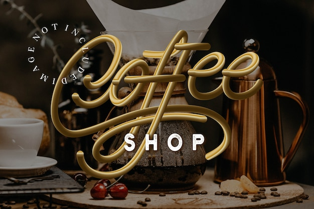 Vector of coffee shop logotype
