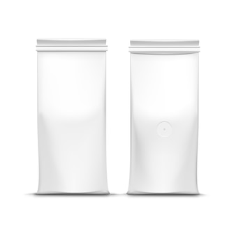 Vector coffee tea packaging package bag isolated on white