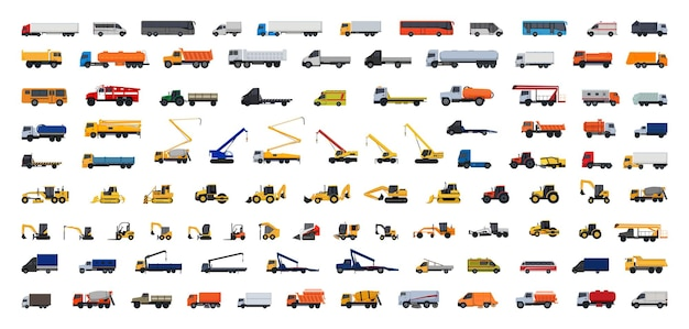Vector collection of auto special equipment